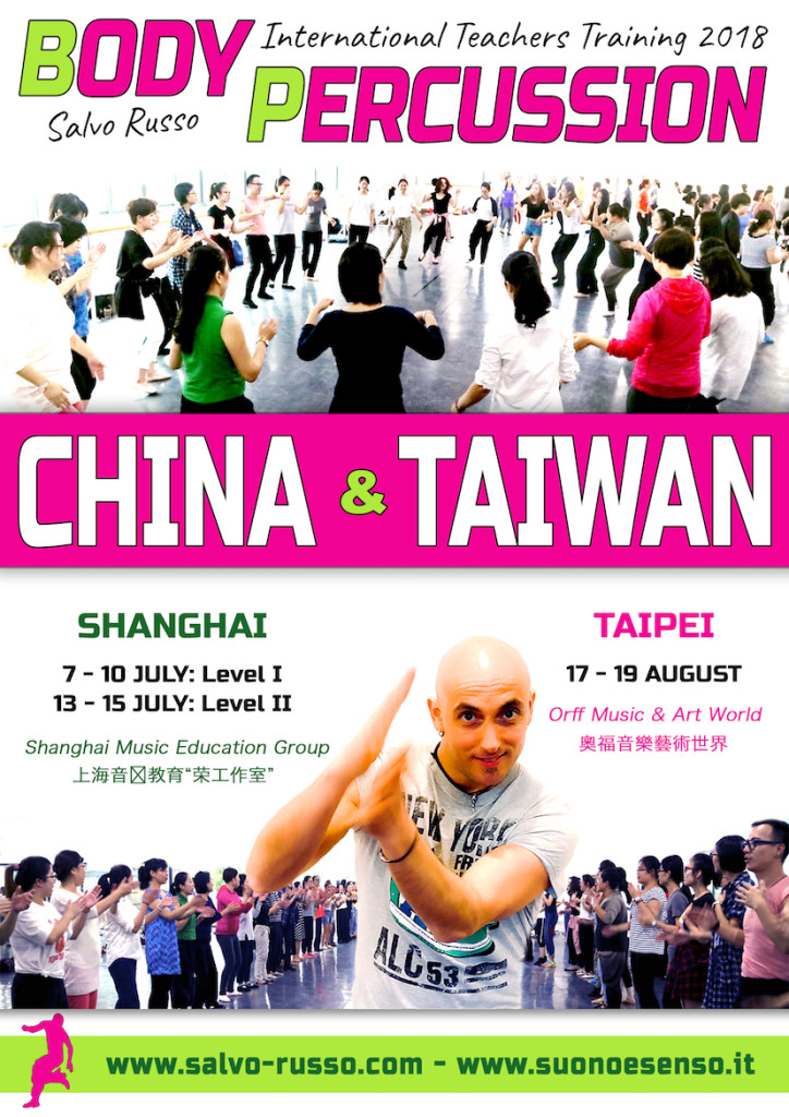Body Percussion in China and Taiwan - International teachers training 2018