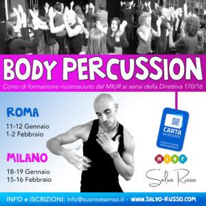 Corso di formazione docenti sulla body percussion